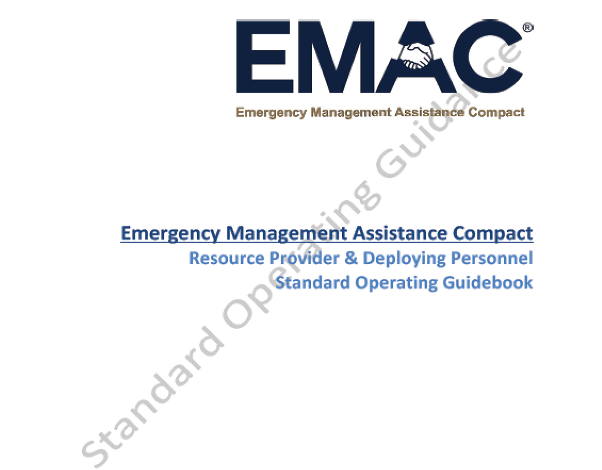 EMAC SOG: Deploying Personnel & Resource Providers
